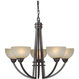 Antique Bronze Five Light Chandelier